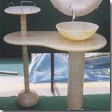 Marble Rosin Jade Pedestal Vanity Top